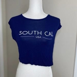 H&M Royal Blue Short Sleeve Top Size XS